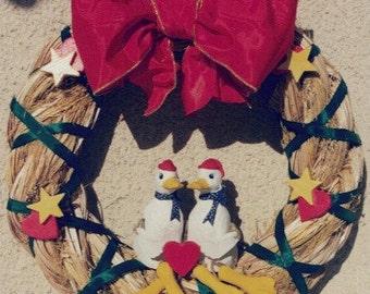 Wreath with Sitting Ducks