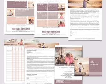 INSTANT DOWNLOAD, Photography Workflow set, Sell Sheet & Product Pricing Templates, Package, Photography Marketing Template, Business, Flyer