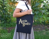 Accio Books - Harry Potter Inspired Book Bag - Book Tote - Library Bag - Book Bag - Personalized Hogwarts Letter Optional Add-on