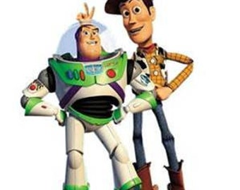 iron on only toy story buzz lightyear woody disney