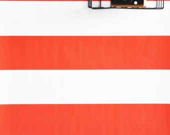 "Wallpaper - 24"" x 48"" Nautical Stripe Removable wall paper tile -  self adhesive wallpape"