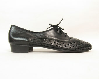 Mens Perforated Leather Oxfords Sz 11