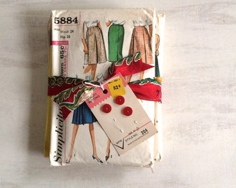 A Bundle of Retro Skirt Sewing Patterns From the 1960s