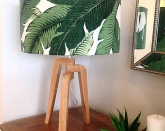 Lampshade, Lamp Shade, Palms, Palm Leaves Tropical Style, Coastal Decor, Lamp Shade Beach Decor Tropical Decor Barrel Lampshade.