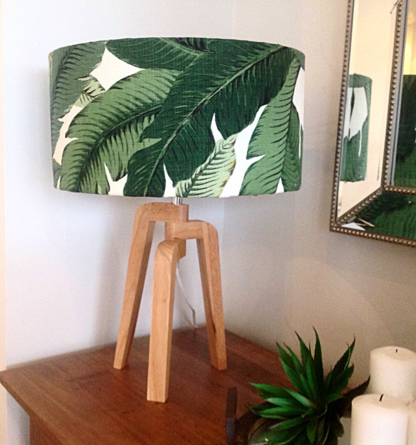 Lampshade Lamp Shade Palms Palm Leaves Tropical Style