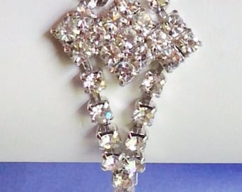 Beautiful Sparkly Clear Rhinestone Vintage Bracelet