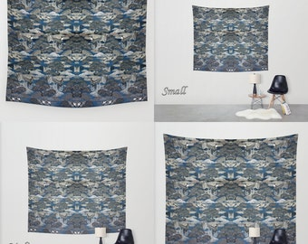 Art Tapestry Wall Tapestry Photo Tapestry / Wall Hanging ~ Large Wall Art / Featuring Exquisite Antique Japanese Silk Brocade Design