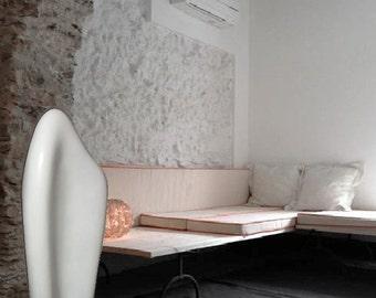 Abstract Floor Sculpture - 3D Interior Decor - Modern Sculpture - Resin and Marble Powder Sculpture - 3D Home Decor - White Modern Sculpture