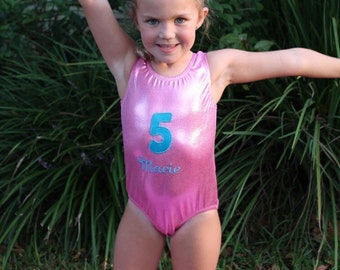 Custom Birthday Outfit-Gymnastics or Dance Leotard