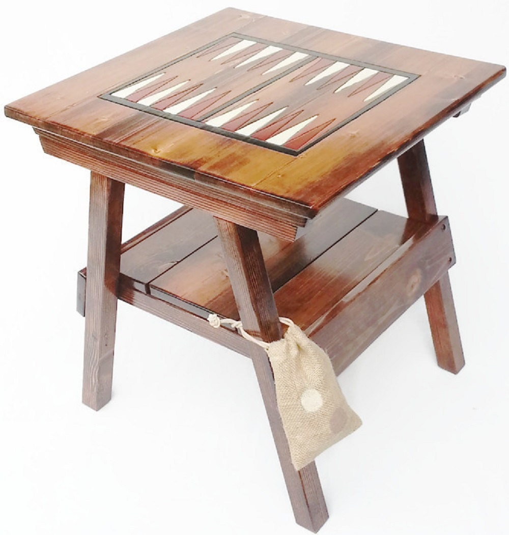 Backgammon game board wood table outdoor by happychairsandmore for Supreme 99 table game