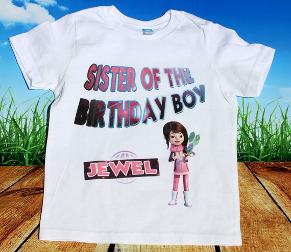 Sister of the birthday boy - Miles from Tomorrowland Birthday T Shirt Personalized