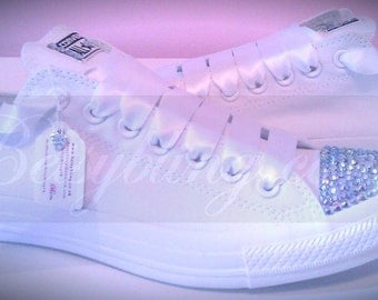 SALE **15% off original price** Crystal Converse-CustomCrystal Converse ANY colours. Free UK Delivery