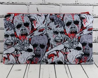 Zombies Pencil Case, Horror Pencil Case, Mini Make Up Bag, School Supplies, Zombie Fan.