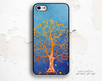 iPhone 6 Case Autumn Orange - iPhone 5C Tough Case, iPhone 5 Case Orange Leaf, iPhone 6 Plus Case Fall Tree :1087