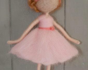 Custom needle felted girl decoration