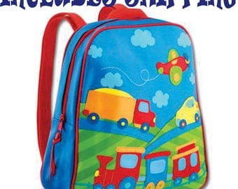 Backpack Stephen Joseph GoGo ToddlerTransportation  Diaper Bag INCLUDES SHIPPING and PERSONALIZATION.