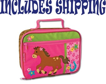 Stephen Joseph Toddler Girl Horse Lunch Box Pre School Personalized INCLUDES SHIPPING!!!