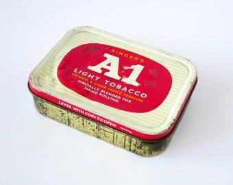 Vintage 1960's Ringer's A1 Light Tobacco Tin