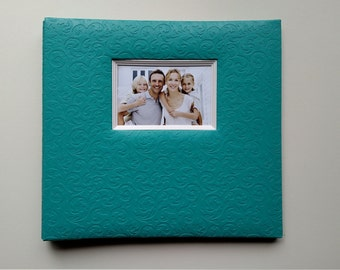 Turquoise Photo Booth Guest Book Album
