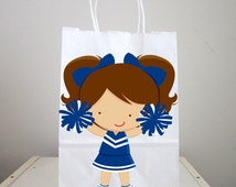 Cheerleader Goody Bags, Cheerleading Goody Bags, Cheerleading Favor Bags, Cheerleading Gift Bags, Cheerleader Goody Bags
