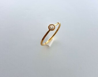 0.15 ct. Real Diamond solitaire 14k solid gold band wedding engagement anniversary gift,
