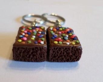 Brownie Halves Key Chains, Polymer Clay Food Accessories, Best Friends BFF