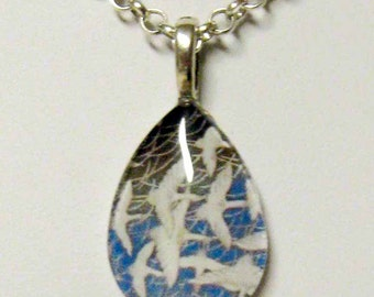 Flock of birds pendant and chain - BGP06-001