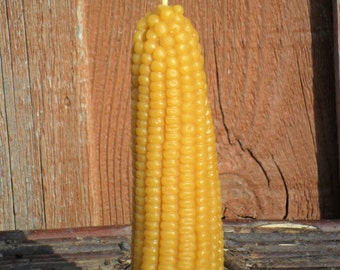 100% Pure Beeswax Corn Candle