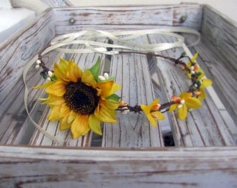 Sunflower Halo Crown