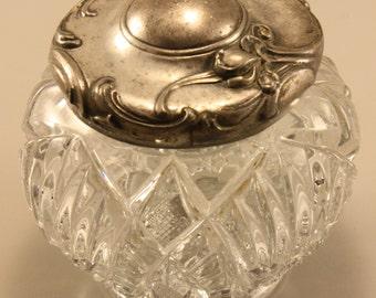 Antique Art Nouveau Glass Dresser Jar