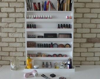 Εxtra large makeup organizer - nail polish rack - wall hanging - many colours available - bathroom storage - rangement maquillage