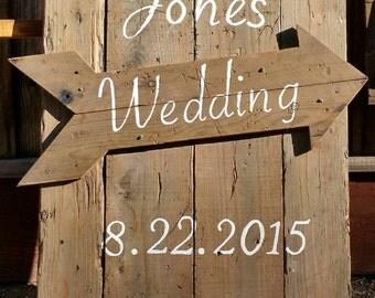 Custom Wedding Sign w/ Date