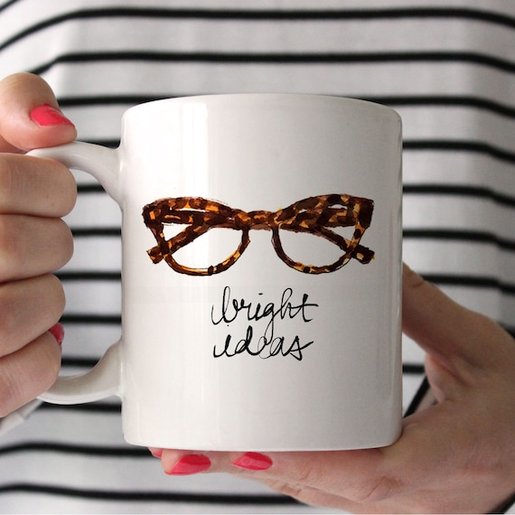 Coffee/Tea Mug: Bright Ideas {11 oz Ceramic Mug}