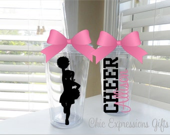 Cheerleader tumbler - done in up to 3 colors