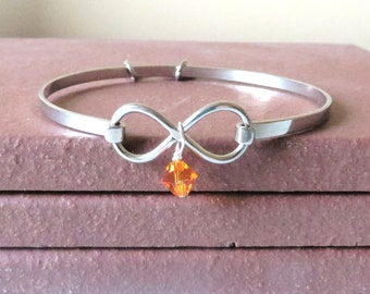 Orange Awareness Stainless Steel HOPE LOVE Bracelet YOU Choose Charm(s)