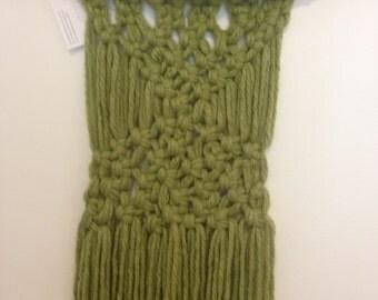 Green Macrame Hanging