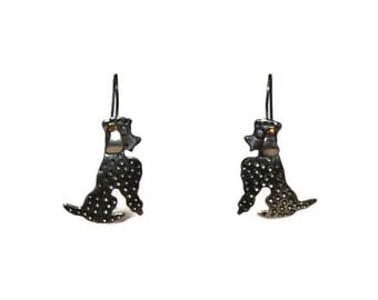 Beautiful Sterling Poodle Earrings in the Style of Maricela (Isidro Garcia Pina of Taxco)