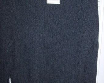 Vintage Ralph Lauren Men's Fisherman's Sweater XL Slate Grey