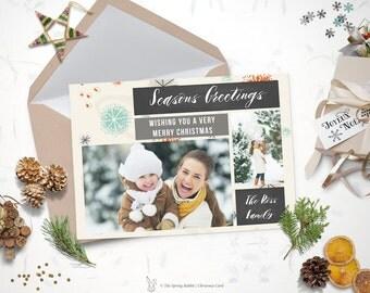 Printable watercolor christmas card holiday card 5 x7 do christmas photo card holiday photo card 5 x7 do it yourself customizable printable solutioingenieria Gallery