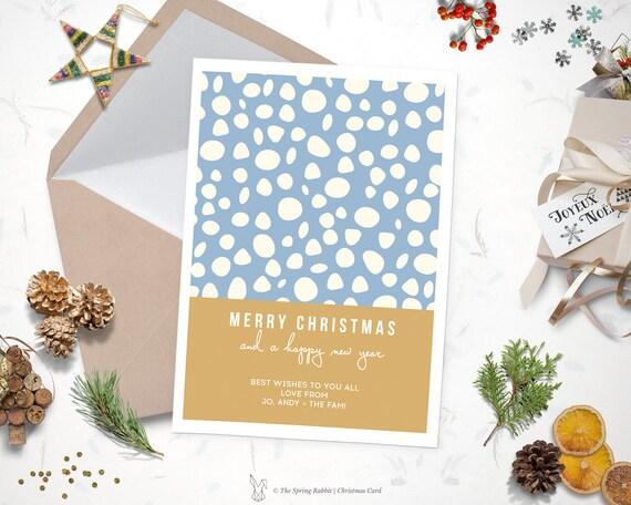 Printable modern snow christmas card holiday card 5 x7 like this item solutioingenieria Gallery