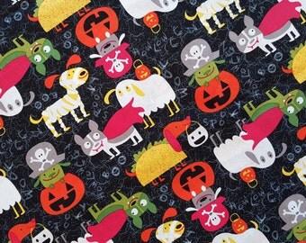 Halloween costumed pets dog bandana slides over the collar