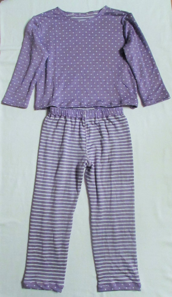 Girls knit pajamas/girls pajamas/reversible pajams/girls fashion pajamas/comfortable pajamas/polka dot pajamas/stripe pajamas/todder pajamas