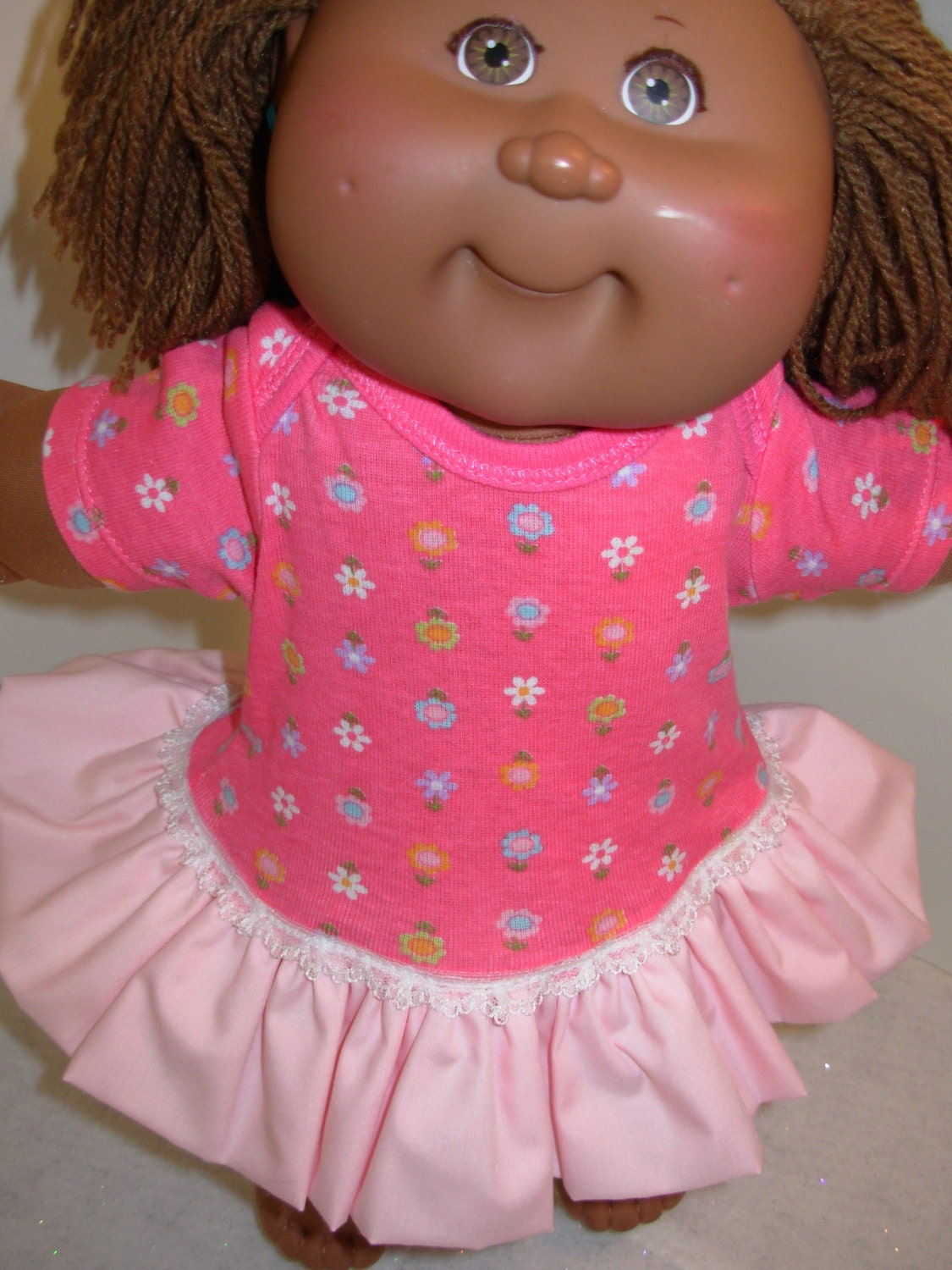 cabbage patch doll clothes 14 16 doll flower