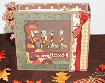 Fall Scrapbook Album, Family Scrapbook Thanksgiving Mini Album Simple Stories premade Scrapbook Photo Album So Very Blessed Memory Album