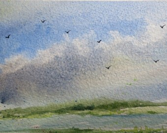 Original Watercolor Landscape/Seascape Postcards Ursa Major