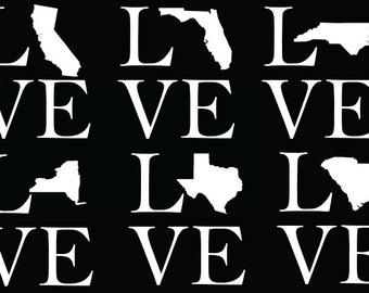 LOVE State Decal
