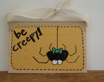 Halloween Decor ~ Hand Painted Book Halloween Decoration ~ Halloween Spider Decoration ~ Spider With Bow Tie ~ Be Creepy!