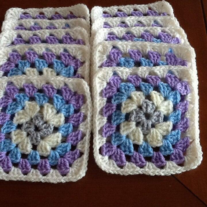 Set D 6 Handmade Crochet Coasters Mug Rugs Dolls Blanket