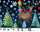Christmas card (folded) by Mila Marquis