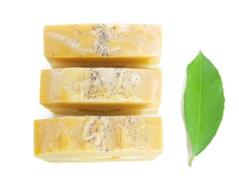 lemon soap - olive oil soap - made in michigan - bar soap - scented soap - handmade soap - artisan soap - soap bars - handmade gifts